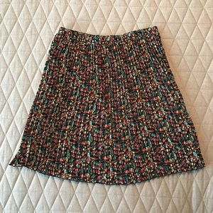 NWOT Anthro Floral Pleated Skirt